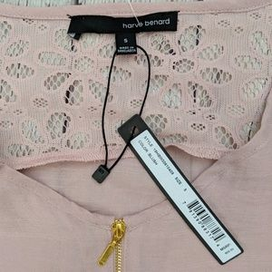 Harve Benard Tops - Harvé Bernard Blush Lace Detail Short Sleeve Top